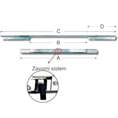 x-vodilo-izvlza-mize-12501007mm-90kg