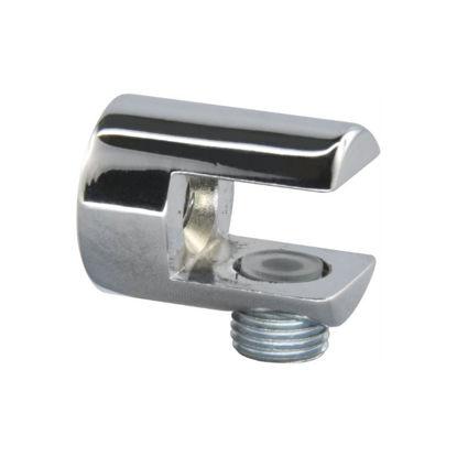 Pritrdilni nosilec steklene police D stekla 6-10 mm krom