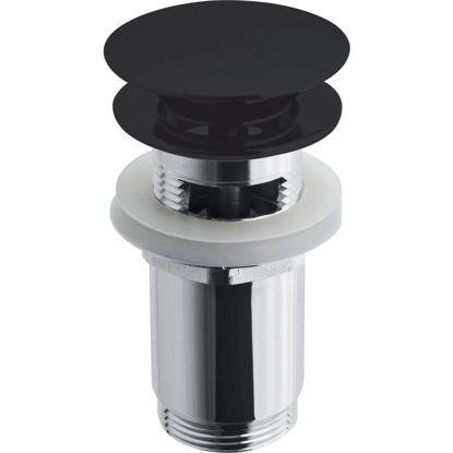 """Prelivni sifon za umivalnik 5/4""""črn mat"""