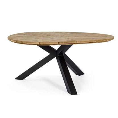 kovinska-miza-bizzotto-homemotion-palmdale-carbon-160-cm
