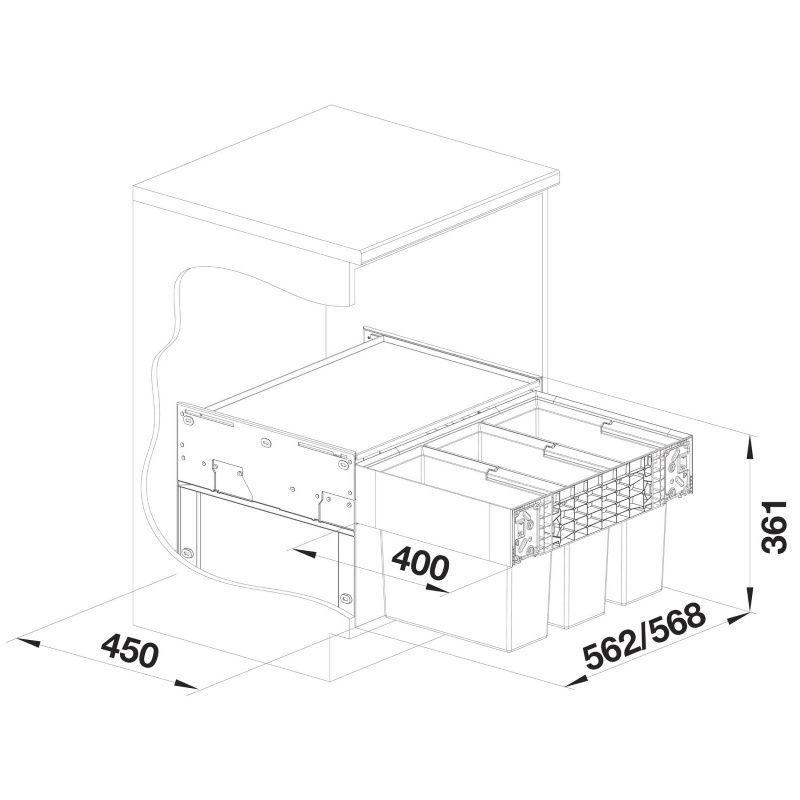 sistem-za-odpadke-select-ii-603-blanco-s-600-mm-mere