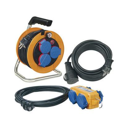set-podaljskov-brennenstuhl-power-pack-kabelski-kolut-razdelilec-podaljsek